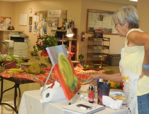 Still life painting during Art Spirit Afternoons