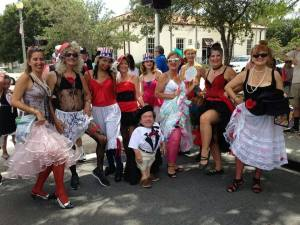 Moulin Rouge ladies photo by Roger Hendricks