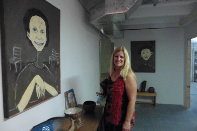 """and i found my favorite piece of art called """"gost portraits"""" at Clay Glass"""