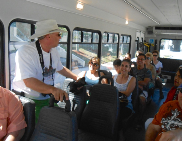 volunteers still needed for the trolly.  This was last year with Jon Faust  giving the tour