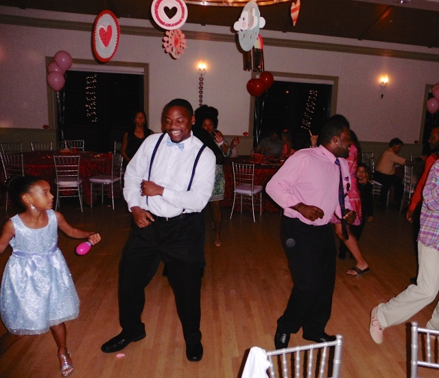 "dancing to ""The electric slide"""