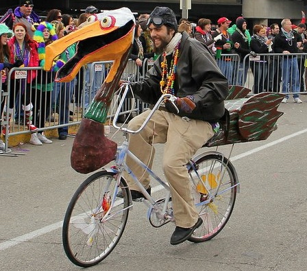 photo from MardiGras bike group. remember two parades and Thursday night peddlers usually participate