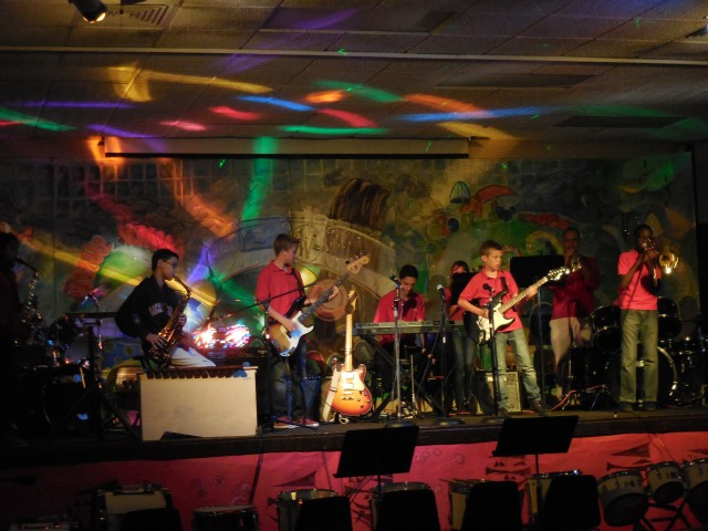 the  Sacred Heart jazz band