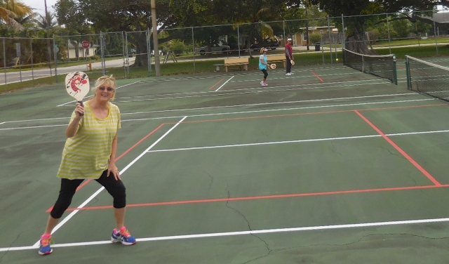 The poster Girl of Lake Worth Pickle Ball, why not