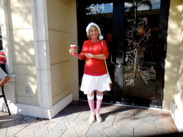 It's the RED cup, love the outfit.