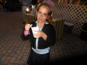 her lament was she had to spend her own $1 for hot chocolate as she was freezing.
