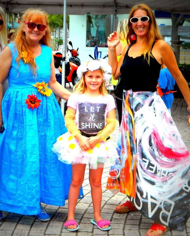 Favorite photo from Earth Day Celebration all outfits recycled