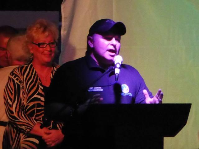 Mayor Pam, Commissioner Andy Amoroso
