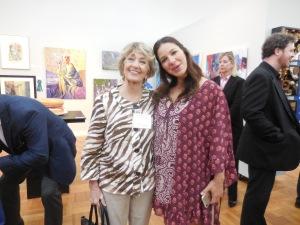 Deborah Marquez being congratulated by LWALPres. Diane Hutchinson